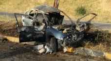 """فاجعة في إربد .. وفاتان تفحمًا بحادث سببه """"تغيير مسرب بشكل مفاجئ"""""""