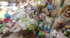 ضبط 10 اطنان مواد غذائية منتهية الصلاحية بإربد