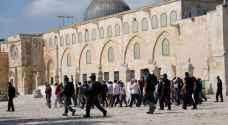 عشرات المستوطنين يقتحمون المسجد الاقصى - صور