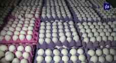 """""""الغذاء"""" تضبط أكثر من 50 ألف بيضة فاسدة في الأردن وتبحث عن المزيد"""