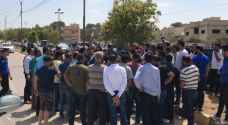 """بحّارة الرمثا """"خط الأردن سوريا"""" يجددون اعتصامهم .. صور"""
