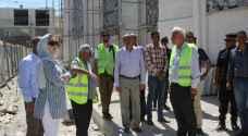 العموش يتفقد عدد من المشاريع في مدينة معان