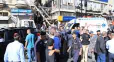 انفجار محدود في واجهة عمارة بمنطقة وسط البلد بعمان.. فيديو