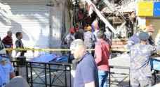 ارتفاع عدد الإصابات في انفجار نتيجة تسرب غاز في وسط البلد بعمان إلى 3 إصابات