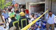 الأمن يواصل عمليات البحث والتحقيق بانفجار وسط عمان - فيديو