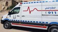 5 إصابات إحداها بالغة بحادث تصادم في ذيبان