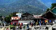 قتيل ومئات المساكن المدمرة جراء الزلزال القوي في اندونيسيا