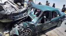 """9  اصابات في حادث تصادم """"مروع"""" في جرش- صور"""