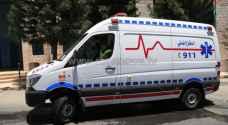 اصابة 10 اشخاص بحوادث تدهور في اربد والزرقاء