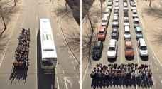 أمانة عمّان تستعين بصورة من جوجل لإقناع الأردنيين بترك مركباتهم