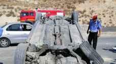 وفاة بتدهور مركبة على شارع الأردن .. صور