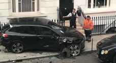سائق عربي يتسبب بحادث سير لـ 11 سيارة فارهة في لندن - فيديو وصور
