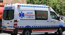 14 إصابات بحادثي تصادم في البحر الميت واربد