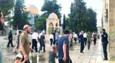 عشرات المستوطنين يقتحمون الأقصى بحراسة شرطة الاحتلال