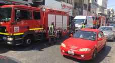 حريق بسيط في محل تجاري بوسط اربد - صور