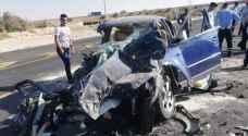 5 وفيات و3 اصابات بحادث تصادم على الطريق الصحراوي - صور