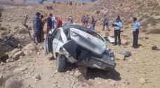 وفاة واصابتان بتدهور مركبة في محافظة معان
