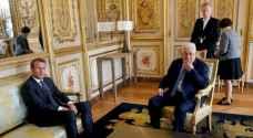 عباس يجتمع مع ماكرون في نيويورك