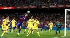 برشلونة يفوز بصعوبة على فياريال ويخسر ميسي