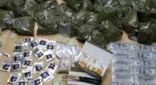 القبض على 22 شخصا بحوزتهم كميات كبيرة من المواد المخدرة  - صور