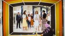 الملكة رانيا تزور جانبا من فعاليات أسبوع عمان للتصميم