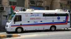 4 اصابات في حادث تصادم في منطقة الياسمين بعمان