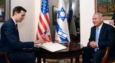 كوشنر يجتمع بنتنياهو وغانتس في القدس لبحث صفقة القرن