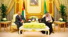 الملك يجري مباحثات مع خادم الحرمين الشريفين في السعودية