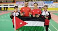 5 ميداليات للريشة الأردنية في بطولة الجزائر