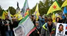 """مئات الاكراد يتظاهرون في باريس مطالبين بفرض """"عقوبات"""" على أنقرة"""