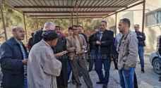 اضراب لموظفي زراعة الطفيلة للمطالبة بحقوقهم.. صور