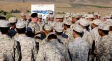 الحنيطي يتفقد واجهة المنطقة العسكرية الشمالية في الباقورة