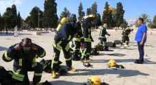 الدفاع المدني الأردني يدرب طواقم إطفاء المسجد الأقصى في القدس المحتلة - صور