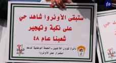 دائرة شؤون اللاجئين الفلسطينيين تنفذ اعتصاماً أمام مقر الأمم المتحدة في رام الله.. فيديو
