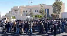 وقفة احتجاجية لمعلمي الكرك أمام وزارة العدل.. صور