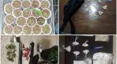 القبض على 29 شخصا وبحوزتهم مواد مخدرة واسلحة نارية - صور