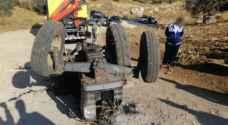 """وفاة سائق """"تراكتور"""" في حادث تدهور بالبيادر"""