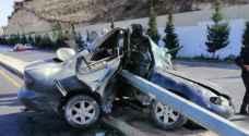 وفاةشخص وإصابة آخر اثر حادث تصادم مؤلم  في البلقاء -صور