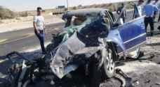6 اصابات بحادث تصادم على الطريق الصحراوي