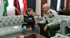 اللواء الحنيطي يلبي رغبة الطفل أحمد