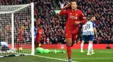 فان دايك يعزز صدارة ليفربول بعد الفوز على برايتون