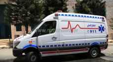 15 اصابة في حادث تصادم بمنطقة الموقر