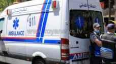 5 اصابات في حادث تصادم قرب جسر يرقا بمحافظة البلقاء