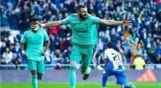 ريال مدريد يتغلب على اسبانيول ويعتلي الصدارة مؤقتاً