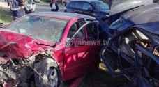 حادث تصادم يتسبب بأزمة سير في منطقة الياسمين بعمان