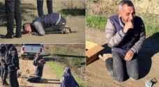 سوري عائد من دفن طفله يفقد ابنته بلغم أرضي في تركيا .. صور