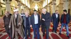 الوزير الداوود يتفقد مشاريع اعمار المسجد الأقصى.. صور