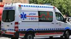 ستة إصابات بحادث تدهور مركبة في اربد