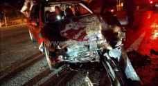 9 اصابات بحادثي سير في عمّان