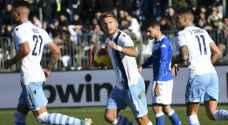 الدوري الإيطالي: لاتسيو يعادل رقمه القياسي بفوز آخر في الرمق الأخير بطله إيموبيلي